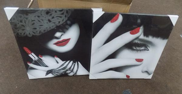 Box of canvas prints