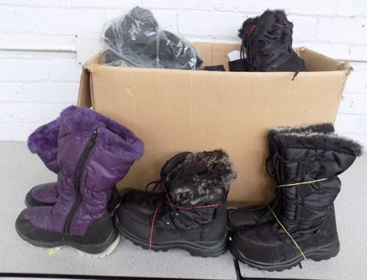 Quantity of ladies boots, mixed sizes