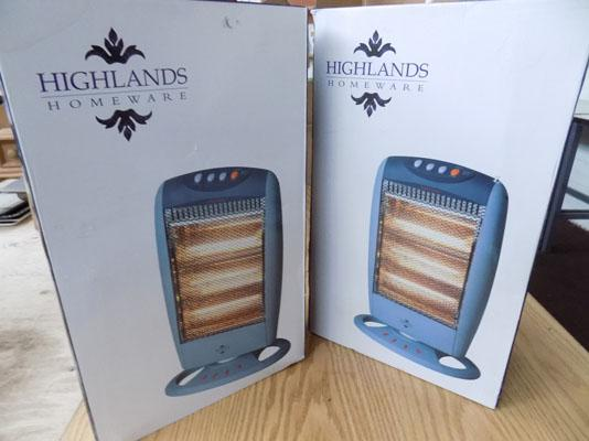 2x Highlands heaters
