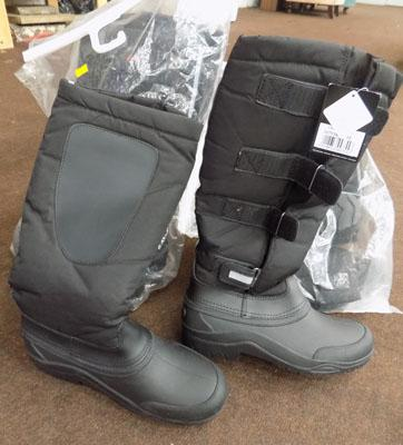 Thermal riding boots 2x size 6, 1x size 5