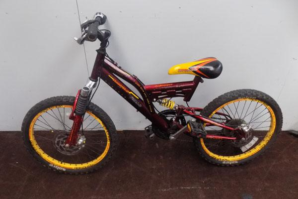 Childs bike-double disk brakes & suspension