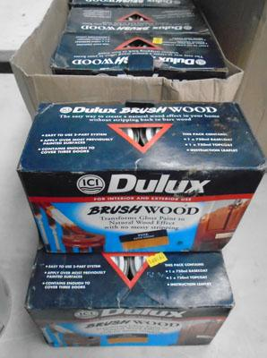 18 Tubs of Dulux  brush wood paint
