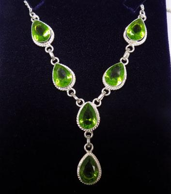 925 Silver Peridot necklace