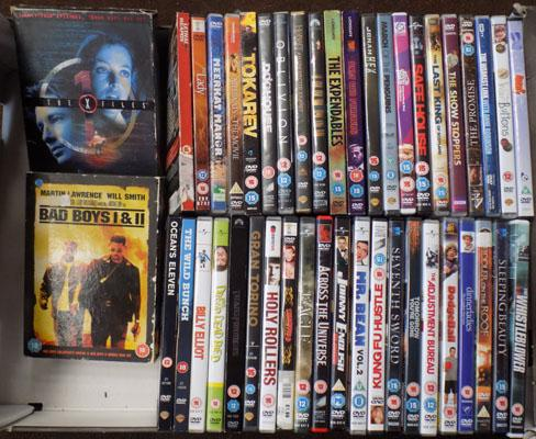 Large box of DVD's including X Files box set
