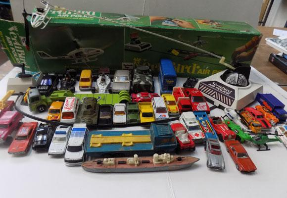 Box of Dinky & Corgi and other cars