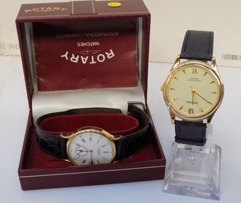 Rotary watch in box and Seconda watch