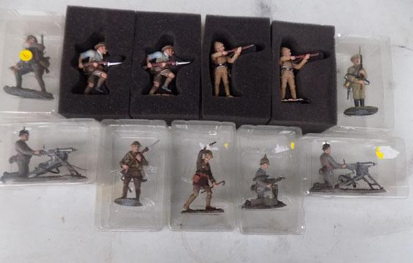 A set of lead soldiers