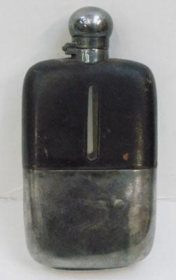 James Dixon and son vintage leather hip flask