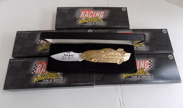 5 collectable racing  car knives