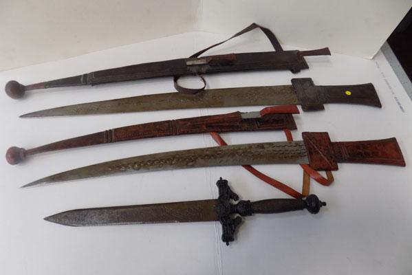 3 middle eastern daggers
