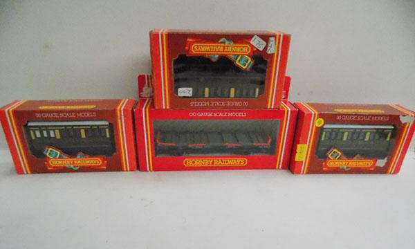 4 boxed Hornby OO scale models