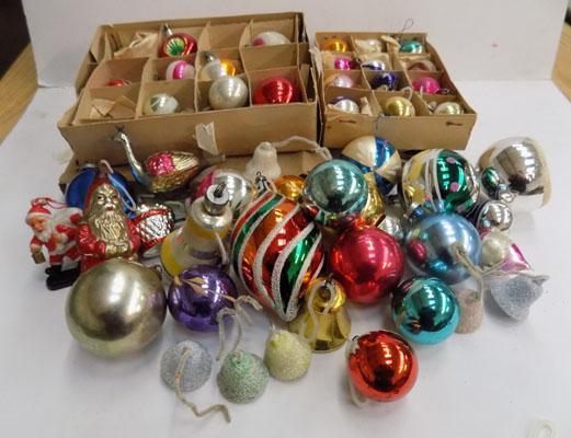 Small selection of vintage Christmas baubles