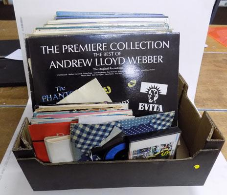 Box of assorted Lps & singles