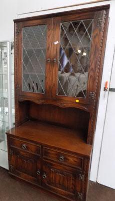 Lead fronted display cabinet