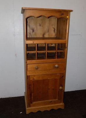 Solid pine wine cupboard