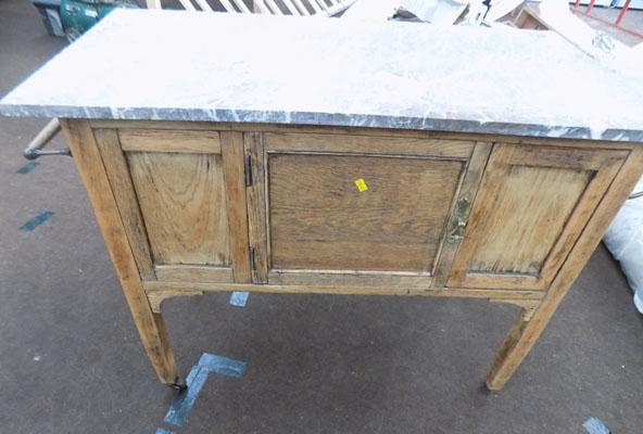 Marble top wash stand cupboard