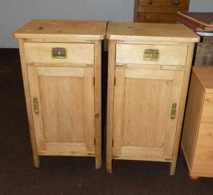 Pine cabinets x2