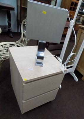 Bedside cabinet and matching lamp