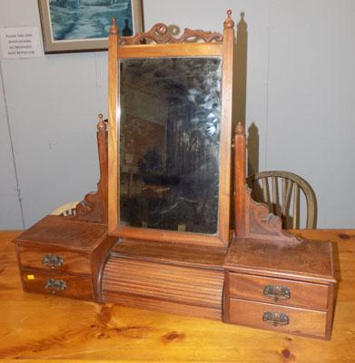Antique roll top mirror