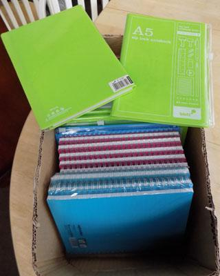 Box of new note pads