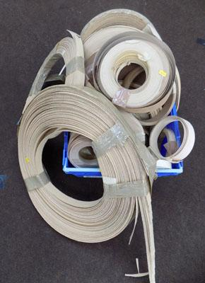Large quantity of furniture edging strips