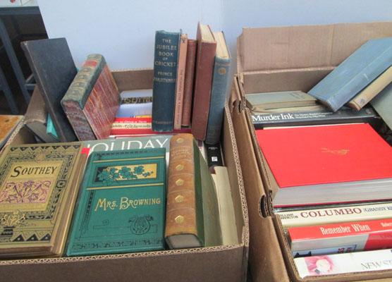 2 Boxes of books-some vintage