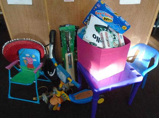 Large selection of toys and games