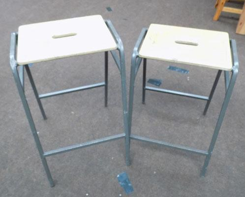 2 Industrial stools