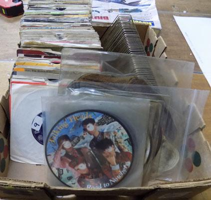 Box of singles and picture discs