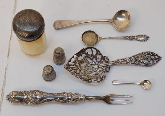 Large selection of sterling silver items