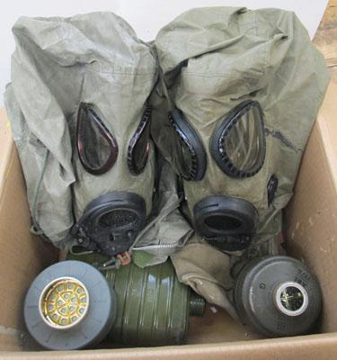 Collection of Military items inc gas masks