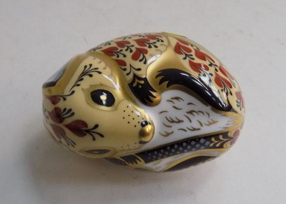 Royal Crown Derby Field Mouse silver stopper
