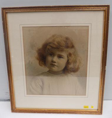 Framed picture of a young girl