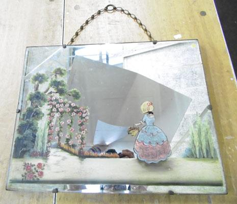 Edwardian style painted mirror
