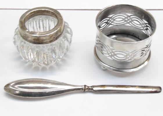 3 solid silver items