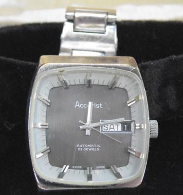 Acurist square face automatic watch w/o
