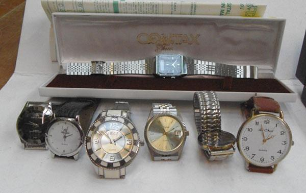 Selection of watches inc old digital