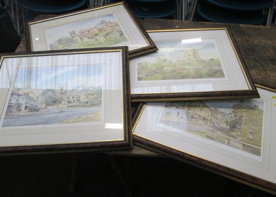 4x Framed signed prints by KW Burton