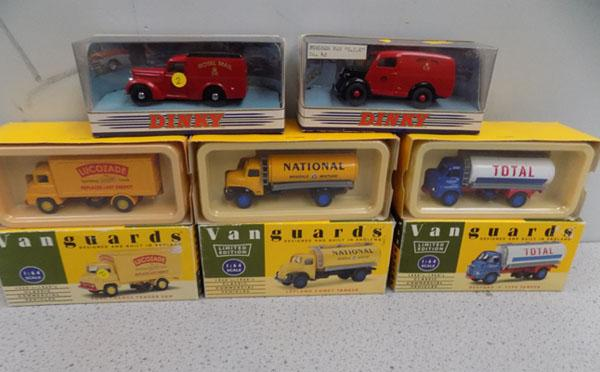 5 Boxed diecast vehicles Dinky/Vanguard