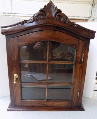Solid wood carved display cabinet