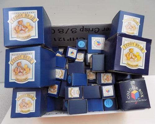 Box of collectable teddy ornaments
