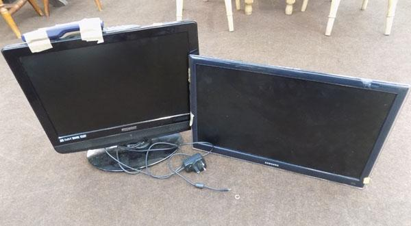 2 Flat-screen TVs with remotes