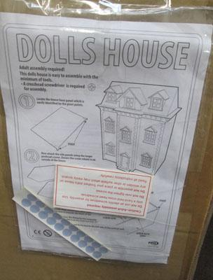 Dolls house in box