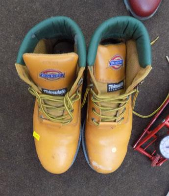 Pair of Dickies site work boots size 9