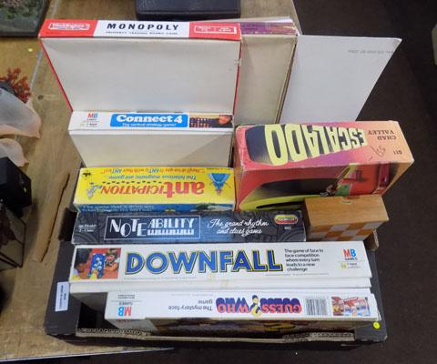 Box of assorted games