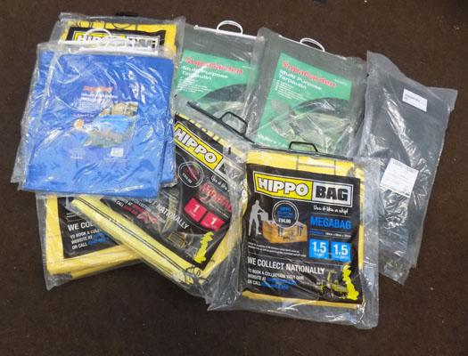 Selection of Hippo bags and tarpaulins