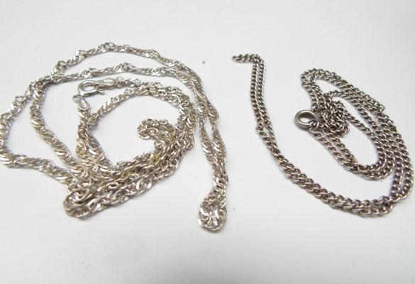 2 silver chains