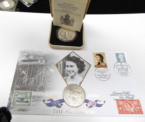 1980 Silver proof Commemorative coin and 2012 coin and stamp set