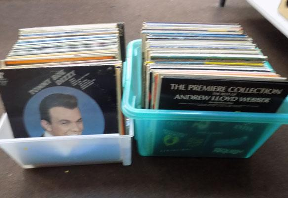 2 boxes of LPs
