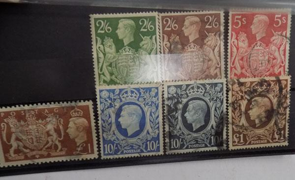 George VI high value stamps